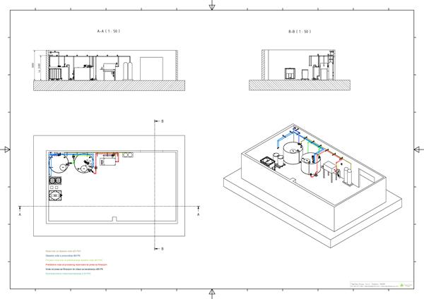 Uredjaji za metalnu, tekstilnu, koznu, prehrambenu i hemijsku industriju - Crtez 3